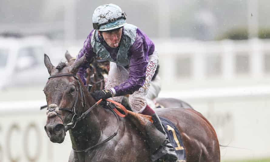 Oisin Murphy celebrates after winning the Coronation Stakes with Alcohol Free.