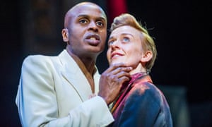 Chu Omambala and Lucy Ellinson in A Midsummer Night's Dream at the Royal Shakespeare Theatre.