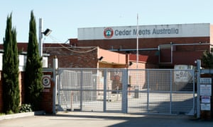 Cedar Meats abattoir, the site of one of the largest coronavirus clusters in Victoria.