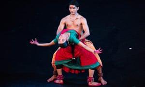 Locked in battle … Neha Mondal Chakravarty and Renjith Babu.