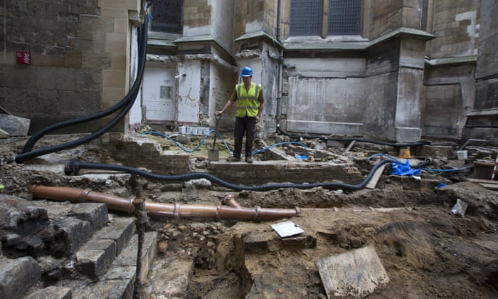 Westminster Abbey lavatory block gives way to medieval