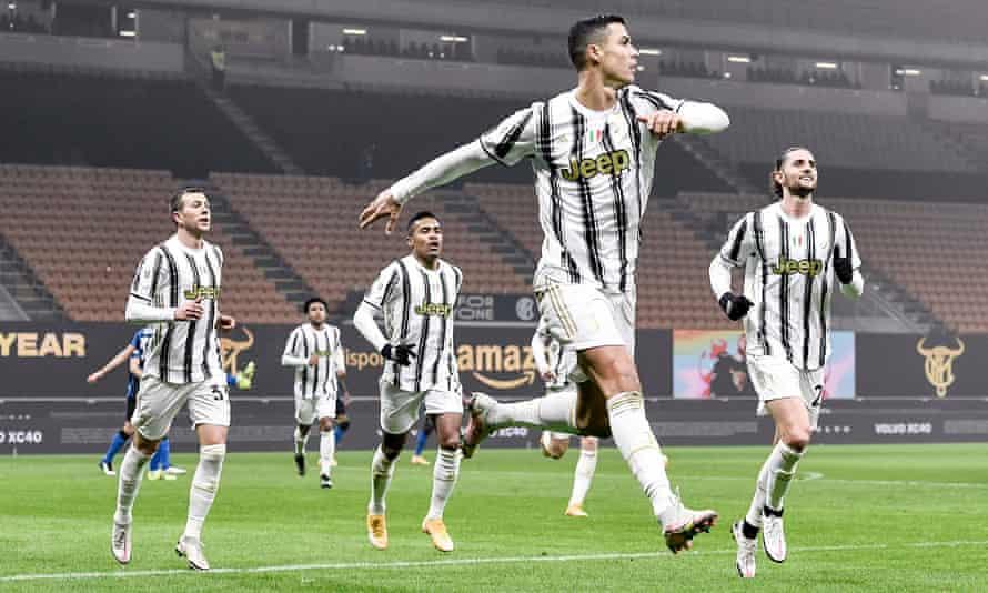 Cristiano Ronaldo strikes twice to give Juventus edge over Inter in Coppa  Italia | Juventus | The Guardian