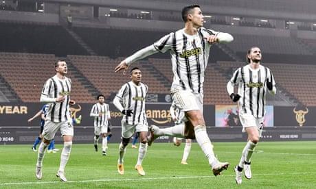 Cristiano Ronaldo strikes twice to give Juventus edge over Inter in Coppa Italia