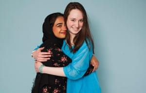 Students Farzana Promi Ali (on left) and Muireann Ní Shé