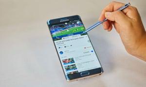 Samsung Galaxy Note 7 smartphones