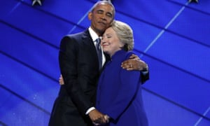obama hillary clinton hug