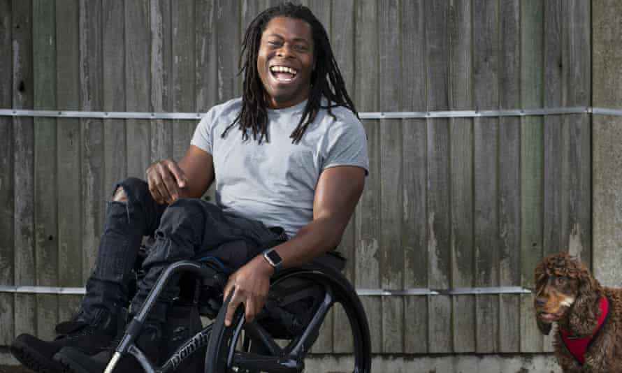 Rolling on: Ade Adepitan.