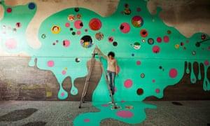 Making a splash … a mural at Rome's Museo dell'Altro e dell'Altrove di Metropoliz.