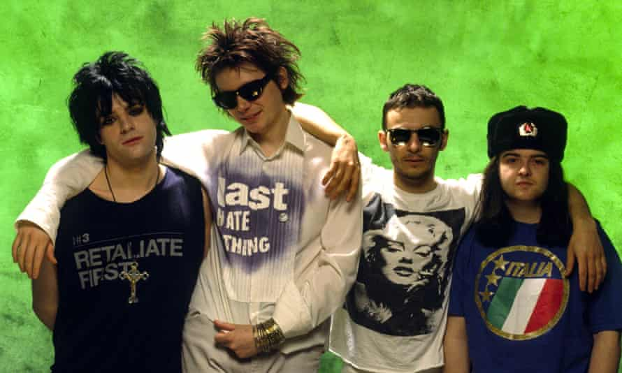 'We always left a space for Richey on stage' … the band in 1992; from left, Richey Edwards, Nicky Wire, James Dean Bradfield and Sean Moore.
