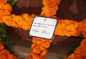 The message on the wreath laid by the couple read: Never forgetting those who have paid the ultimate sacrifice for India. It was signed by William and Catherine