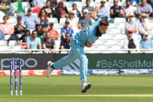 Woakes, smashed for six by Imam.