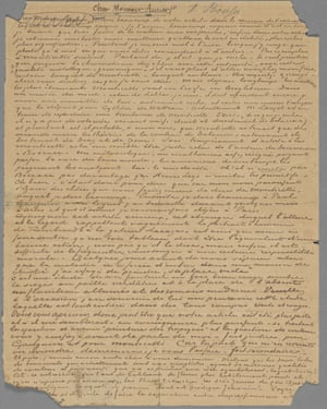 First page of Van Gogh letter