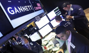 The post that handles America's largest newspaper company Gannett at the New York Stock Exchange. The company owns Newsquest, which has just shut down its sub-editing hub in Wales.