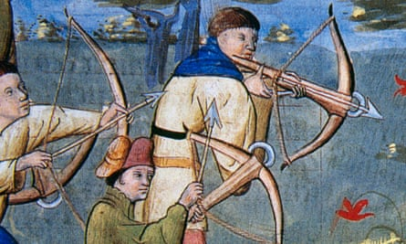 Detail from Livre de Chasse (1387-9) by Gaston Phoebus.