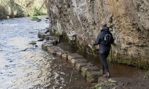 Stepping stones in the Wye in Chee Dale.