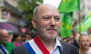 Denis Baupin,PARIS: Demonstration against climate change<br>In this picture taken on Sept. 21, 2014, Denis Baupin, a prominent Green Party member and former Paris city official, takes part in a climate change demonstration in Paris, France.