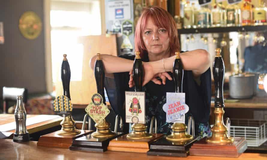 Dawn Hopkins, the landlady of the Rose Inn, Norwich