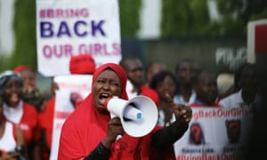 A Bring Back Our Girls protest in Abuja. The rescue of one student has given hope to the families of the others still held by Boko Haram.