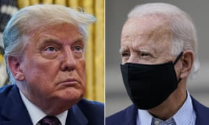 Donald Trump and Joe Biden have clashed again iver whether masks should be worn.