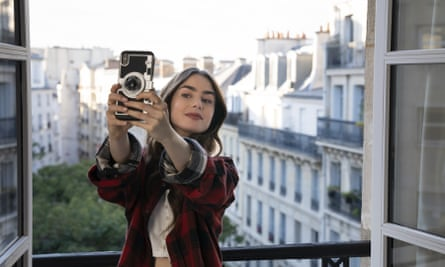 Lily Collins in a scene from Emily in Paris, which premiered on Netflix in early October.