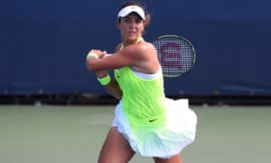 Laura Robson in action during her final US Open qualifying match, which was against Tatjana Maria