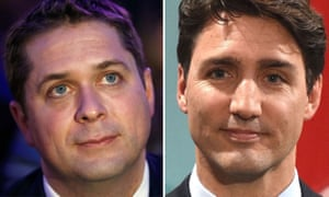 Canadian leadership hopeful Andrew Scheer and current Prime Minister Justin Trudeau