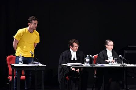 Actor Chris Ryan, Daniel Aghion, Lesley Taylor QC