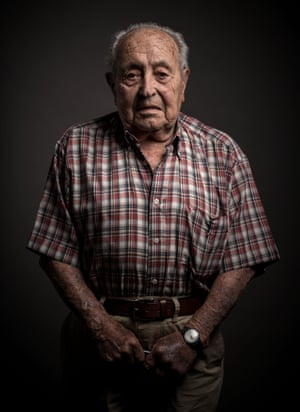 Antoni Canovas, 97,  poses for a portrait on 5 July  in Barcelona, Spain.