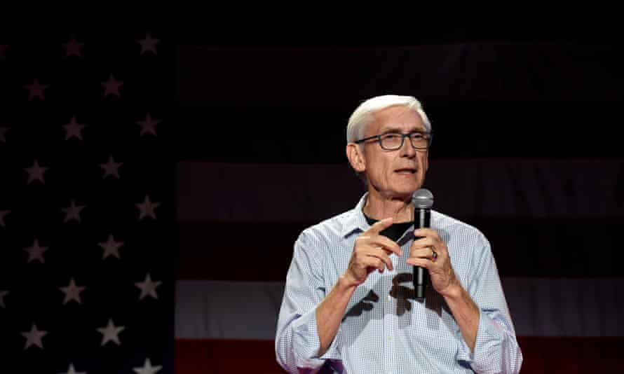 Tony Evers speaks in Madison, Wisconsin, on 5 November 2018.