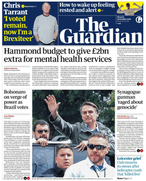 Guardian front page 2910