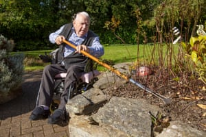 John Christianson helps with the weeding at McKillop Gardens