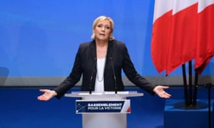 The National Front president, Marine Le Pen, at the party's congress  in Lille