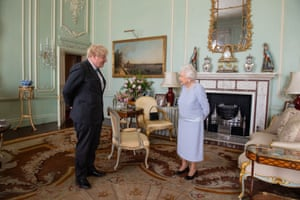 Boris Johnson attending his weekly audience with the Queen today. It was the first in-person audience he has had with her since the pandemic started.