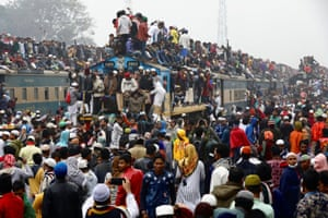 Overcrowded trains