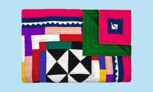 Multicoloured patchwork quilt, exclusive to the V&A