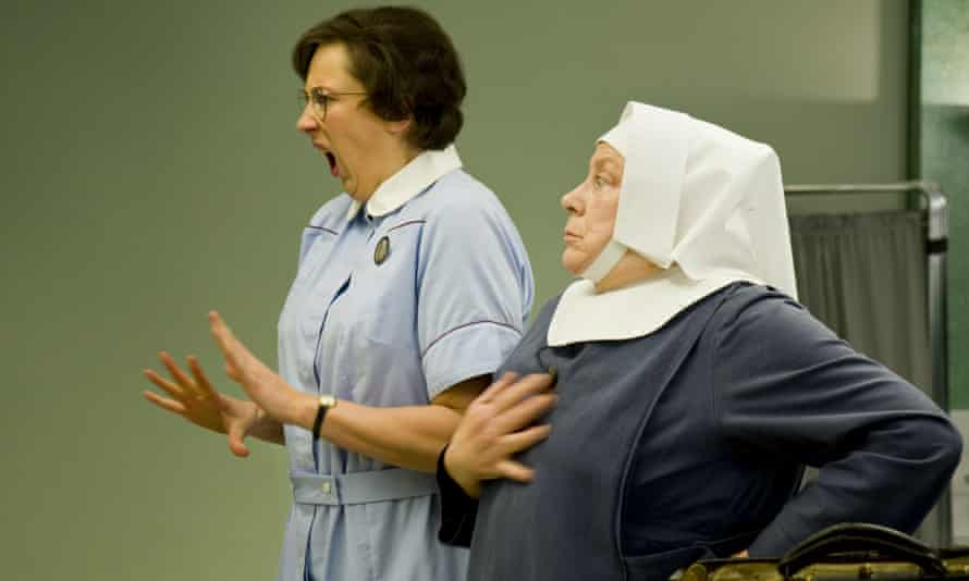 Hart as Nurse Chummy with Sister Evangelina, played by Pam Ferris.
