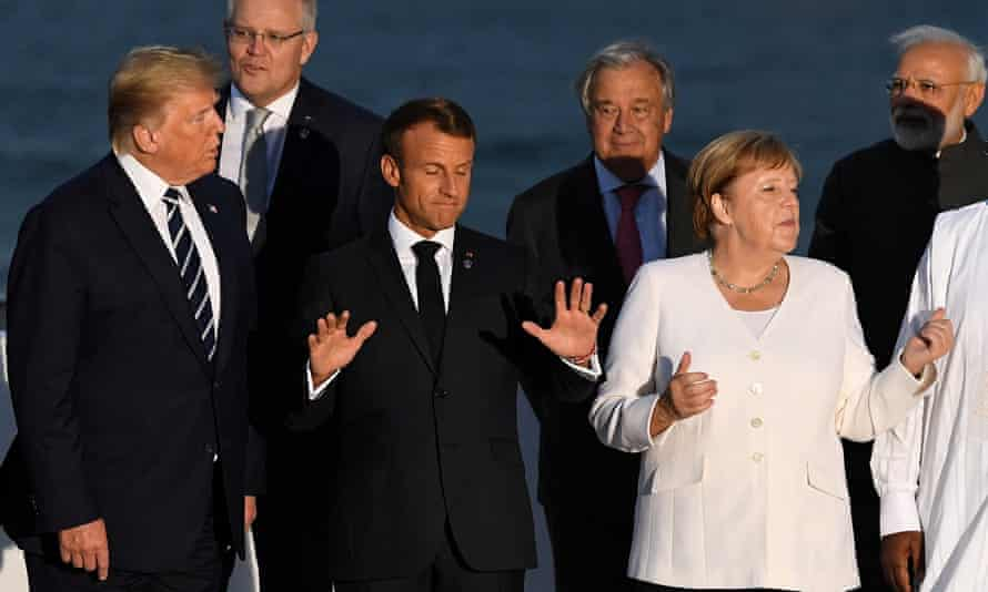 Leaders at the G7 summit in Biarritz, France, in August 2019