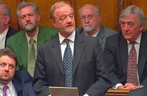 Robin Cook resigns as foreign secretary in the runup to the invasion of Iraq, 2003