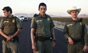 Hot fuzz … Johnny Simmons, Gabriel Luna and Clifton Collins in Transpecos.