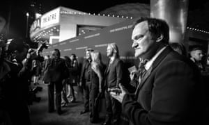 """An Alternative View Of The World Premiere Of The Weinstein Company's """"The Hateful Eight""""<br>HOLLYWOOD, CA - DECEMBER 07: (Editors Note: This image has been processed using digital filters) Director Quentin Tarantino attends the world premiere of the Weinstein Company's """"The Hateful Eight"""" at ArcLight Cinemas Cinerama Dome on December 7, 2015 in Hollywood, California. (Photo by Jason Kempin/Getty Images for The Weinstein Co)"""