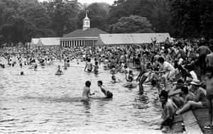 Bathers in the Serpentine in Hyde Park, London
