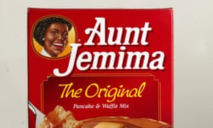 Aunt Jemima's pancake and waffle mix.