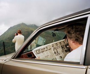 View finders … Snowdonia, 1989, from Martin Parr's show at the National Museum Cardiff.