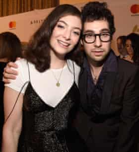 Singer Lorde with Jack Antonoff