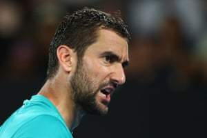 Cilic wins the second set tie break.
