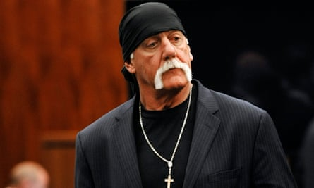 Hulk Hogan in court during his trial against Gawker Media in Florida.