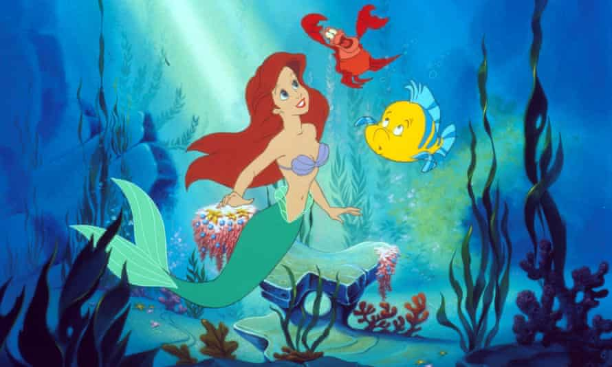 Your only hope of feministing The Little Mermaid up would be to make the love interest follow her into the sea.