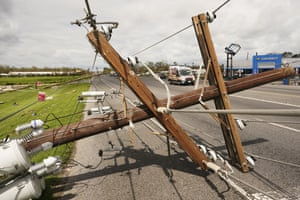 Power lines are downed after Hurricane Ida moved through LaPlace, La.
