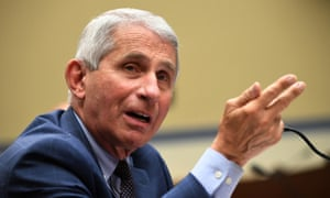 Fauci told the hearing: 'We hope that by the time we get into late fall and early winter, we will have in fact a vaccine that we can say that would be safe and effective.'