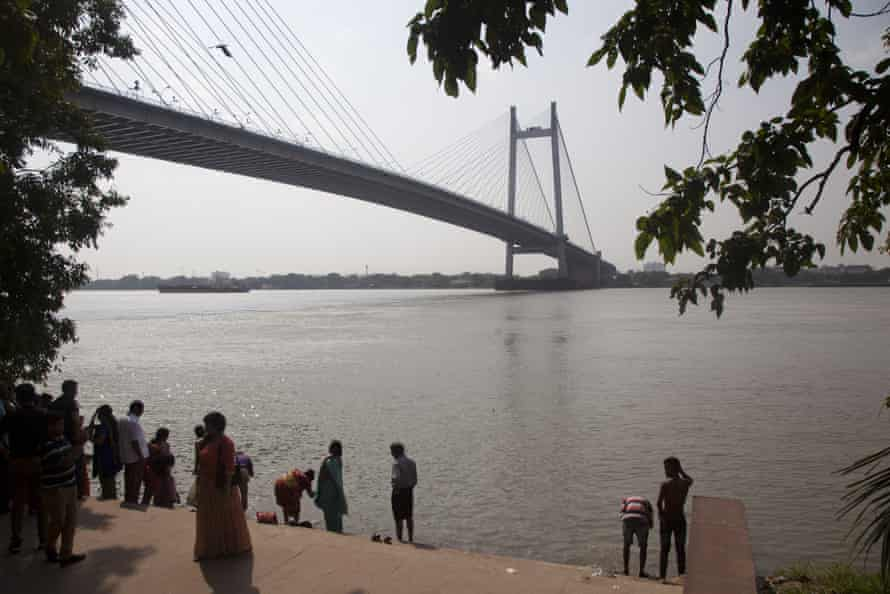 The Ganges is seen from a tourist spot in Kolkata.